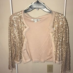 Pale pink sequence cardigan